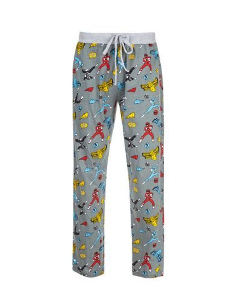 Mens Grey Power Ranger Print Pyjamas, Grey