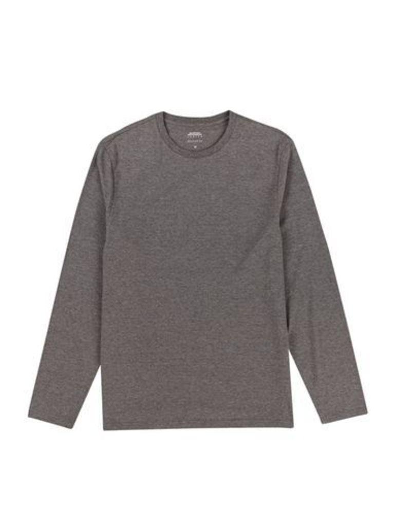 Mens Charcoal Long Sleeve T-Shirt, Charcoal