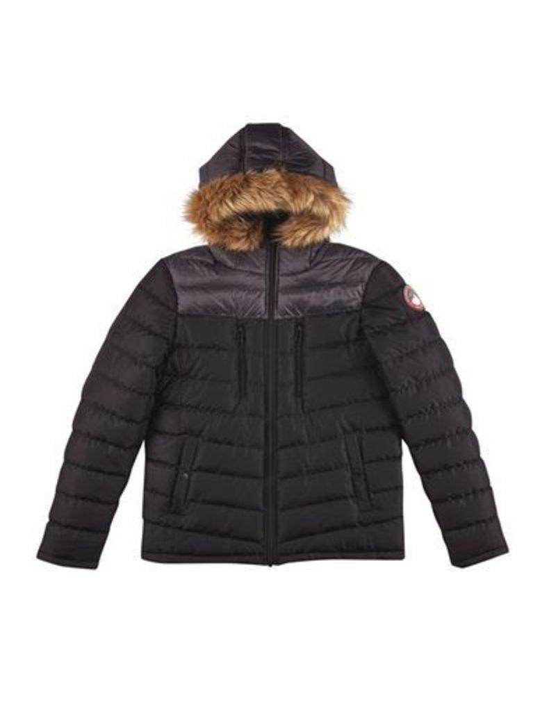 Mens Black Inverness Quilted Jacket, Black