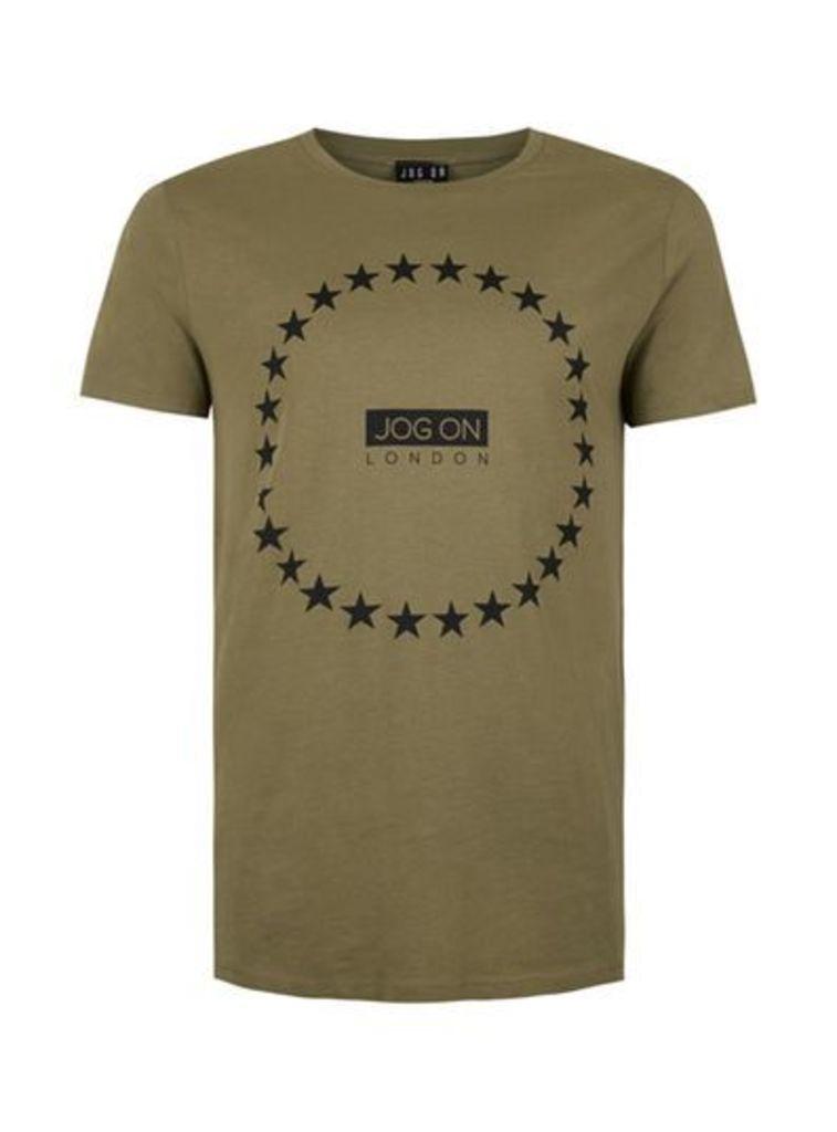 Mens JOG ON Green Organic Cotton T-Shirt*, Green