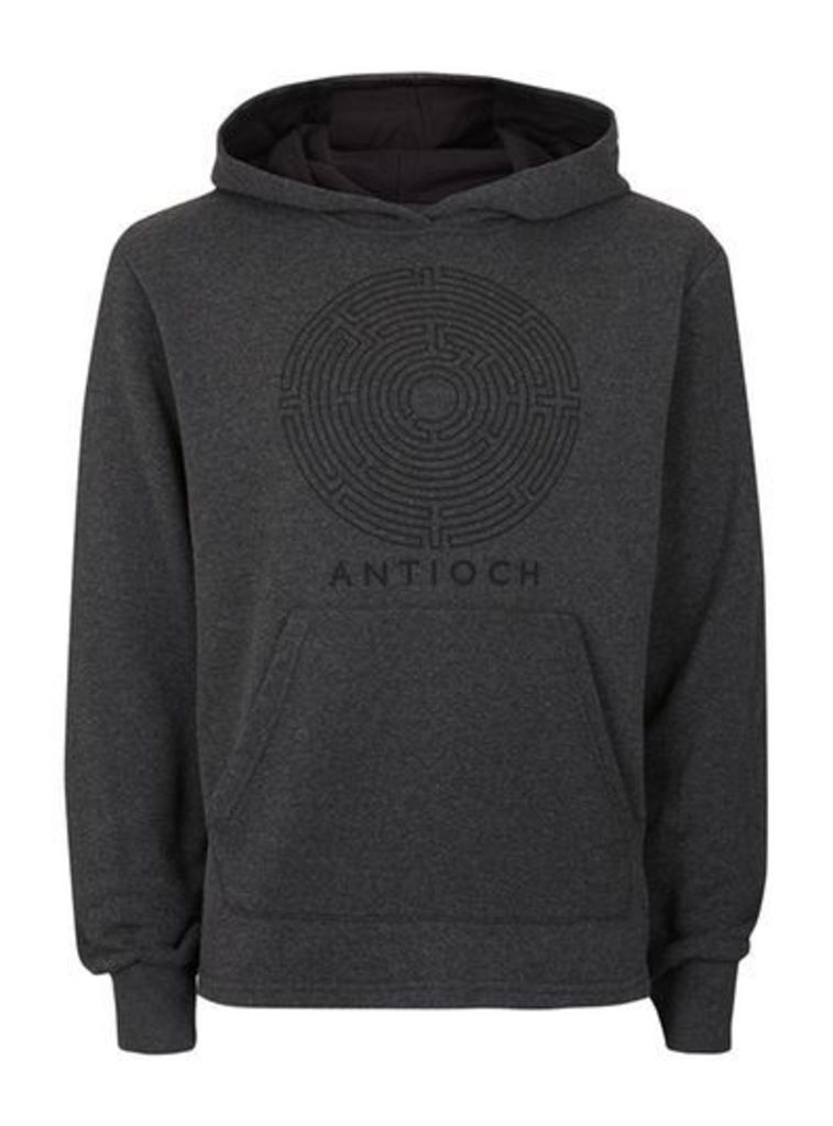 Mens Charcoal ANTIOCH Logo Hoodie*, Charcoal