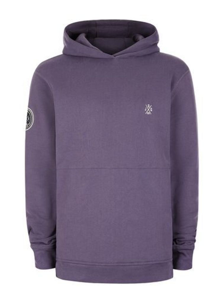 Mens JOG ON Purple Super Soft Hoodie*, Purple