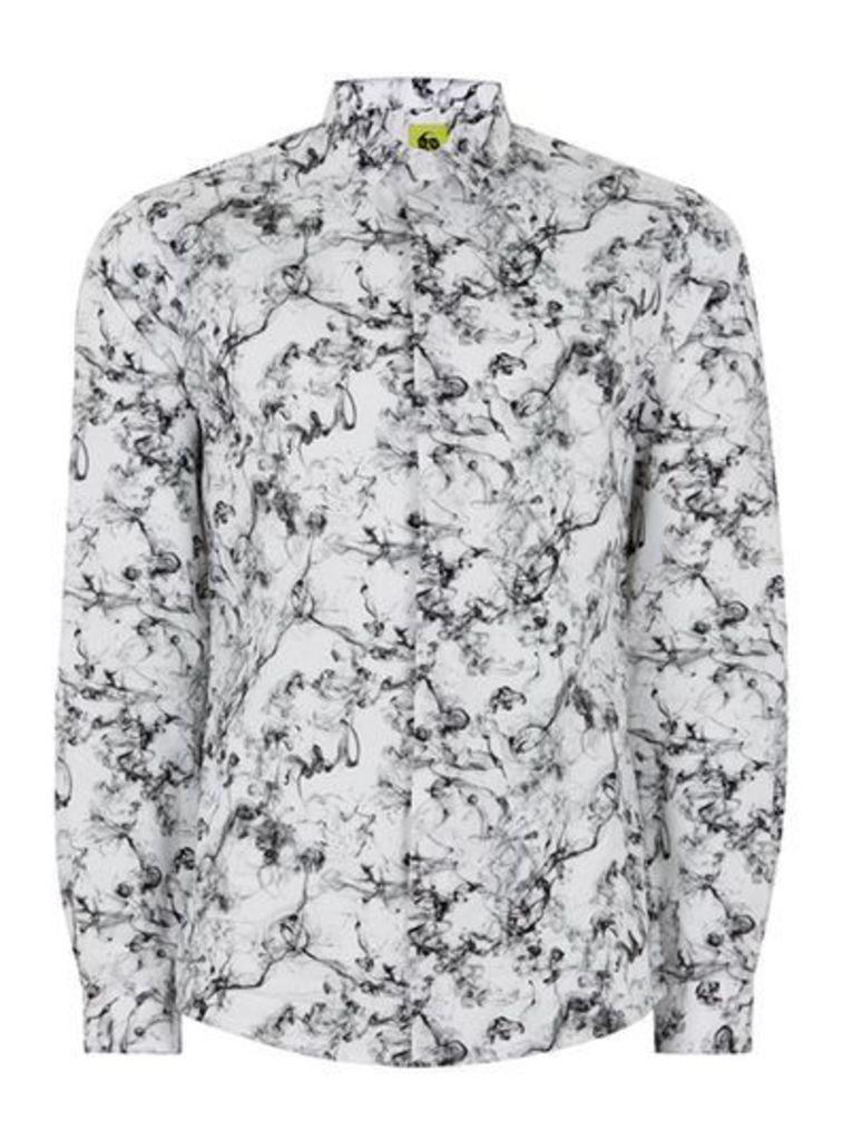 Mens NOOSE & MONKEY White 'Smokey' Shirt, White