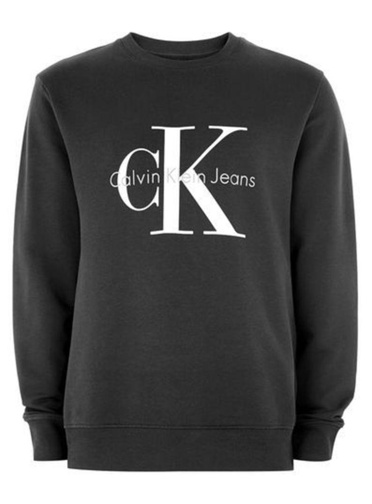 Mens CALVIN KLEIN Black 'True Icon' Sweatshirt, Black
