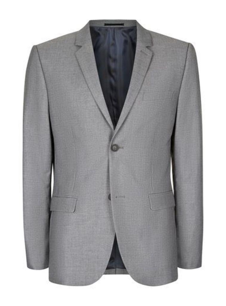 Mens Grey Skinny Fit Suit Jacket, Grey