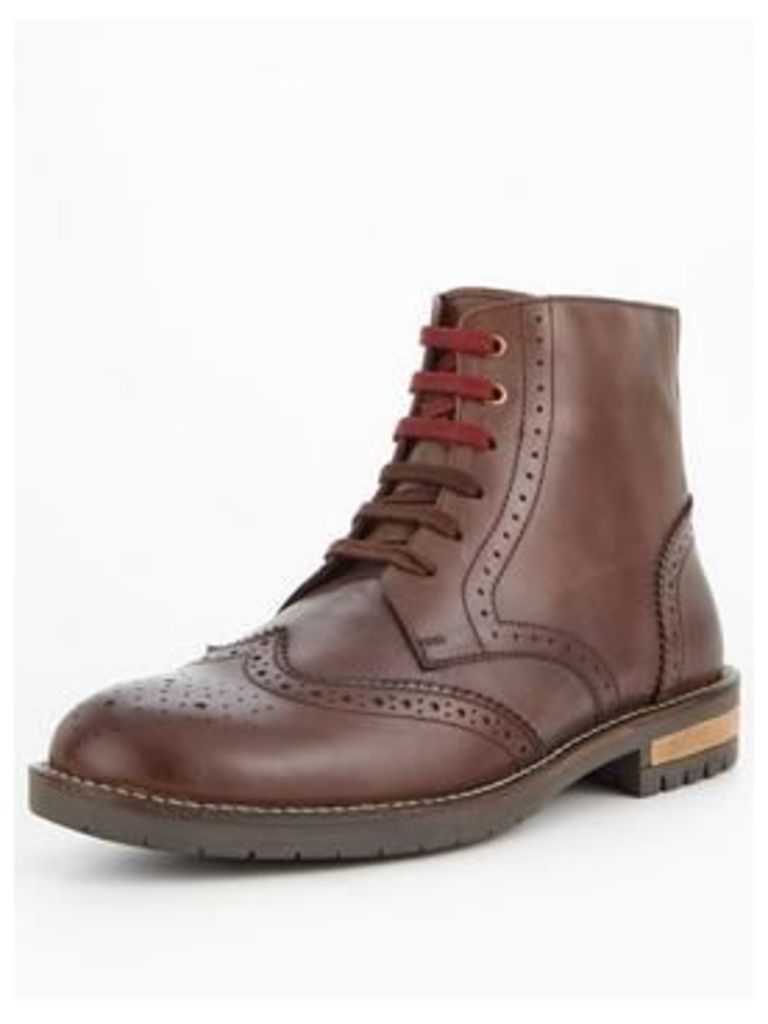 Unsung Hero Melvin Lace Up Boot, Brown, Size 6, Men