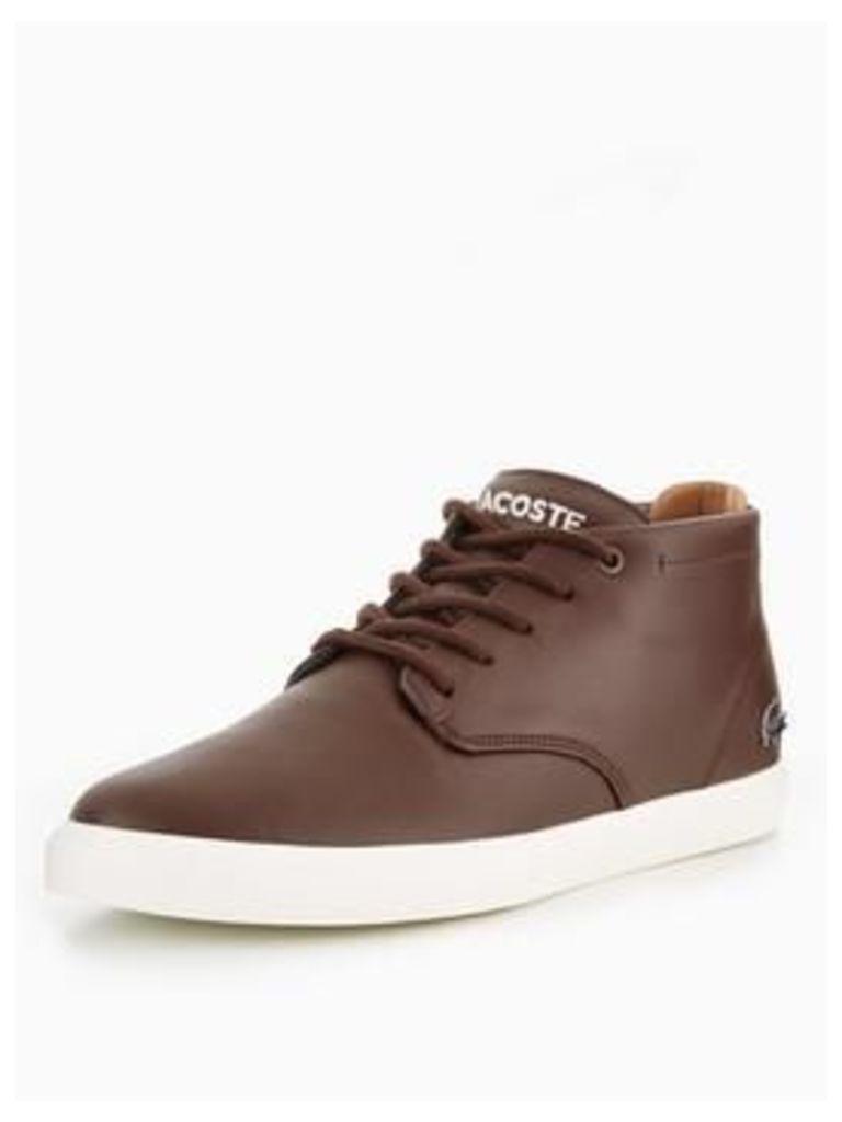 Lacoste Espere Chukka Boot Winter Lining, Brown, Size 6, Men