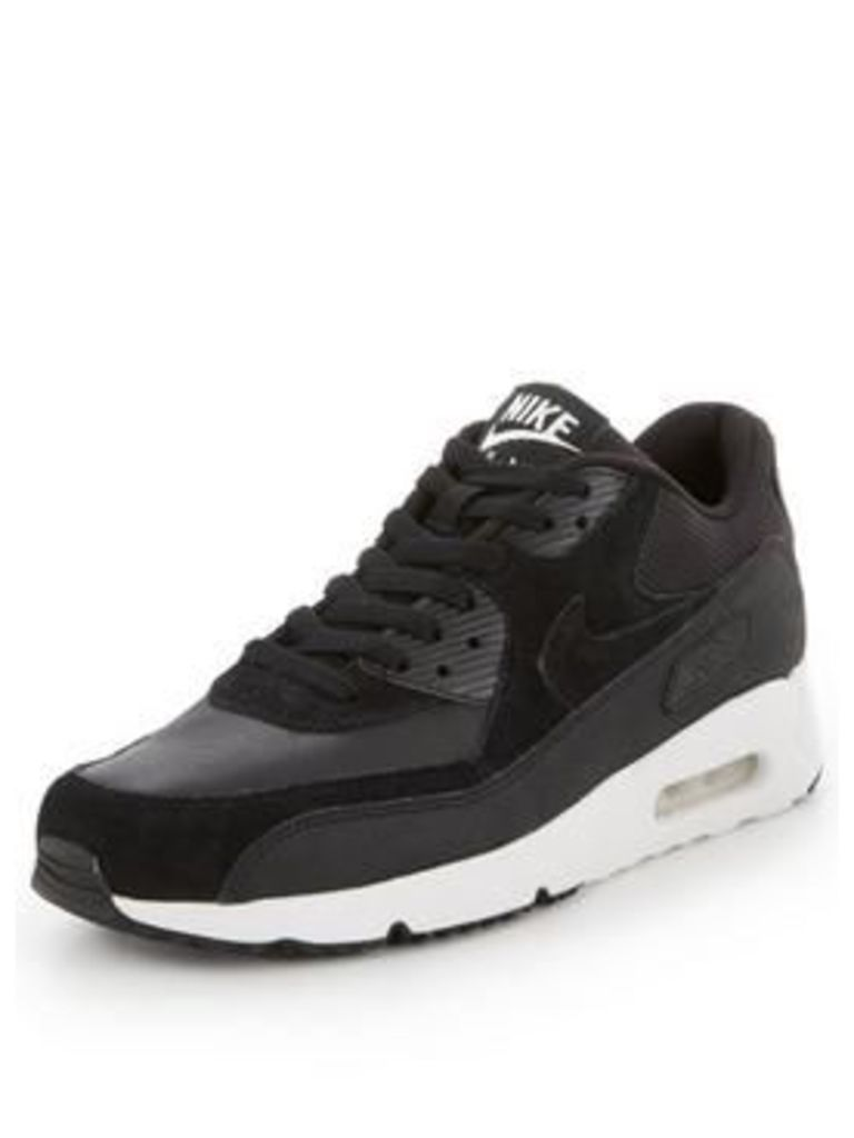 Nike Air Max 90 Ultra 2.0 Leather, Black, Size 6, Men