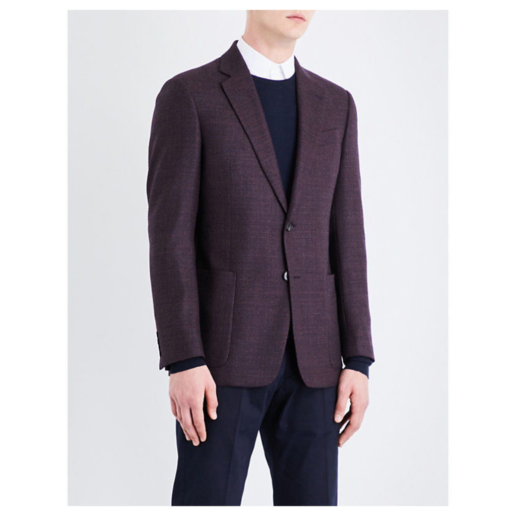 Single-breasted regular-fit wool jacket
