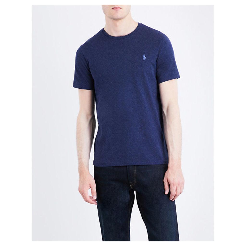 Polo Ralph Lauren Pony motif cotton-jersey T-shirt, Mens, Size: S, Spring navy hea