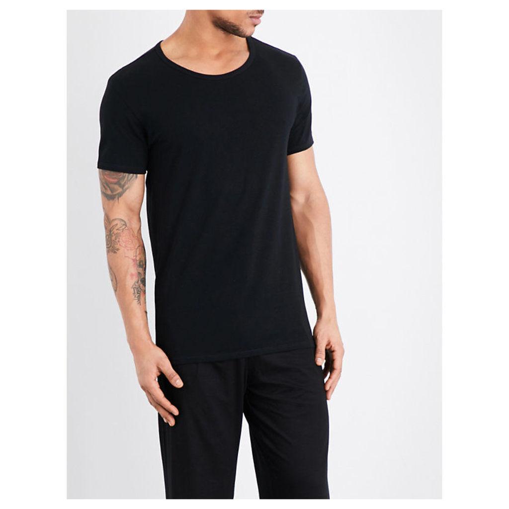 Tommy Hilfiger Stretch-cotton T-shirt set, Mens, Size: S, Blk gry wht