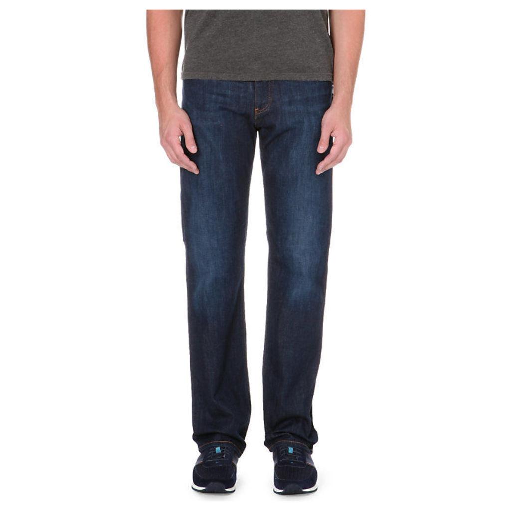 Armani Jeans Dark blue regular-fit stretch-denim jeans, Mens, Size: 22/05/1909, Blue