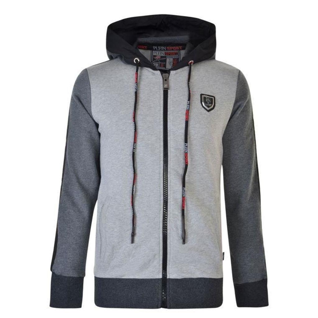 PLEIN SPORT Tiger Zip Hooded Sweatshirt