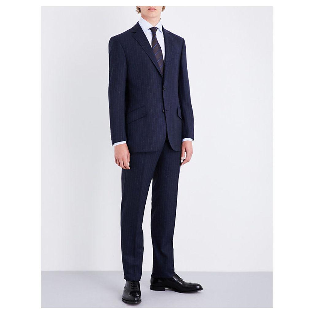 Pinstripe regular-fit wool suit
