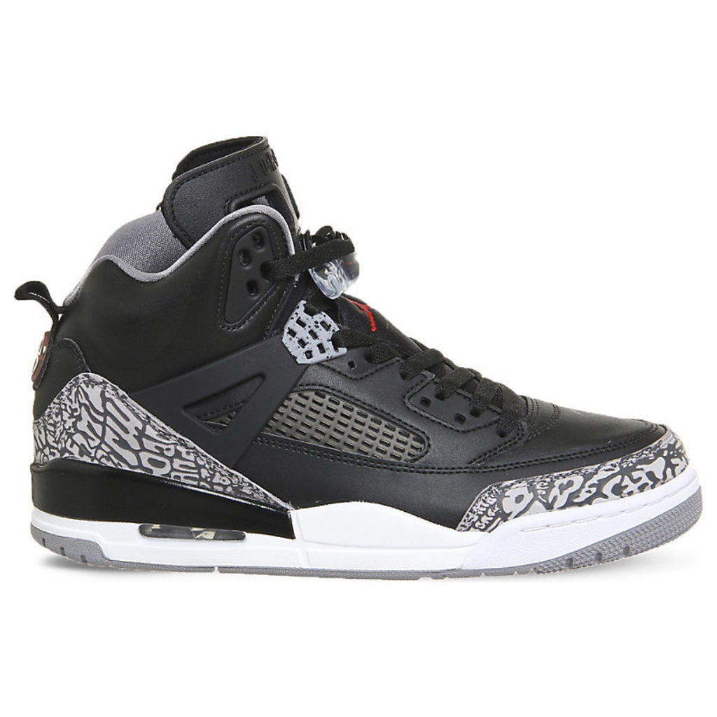 Spizike leather and mesh trainers