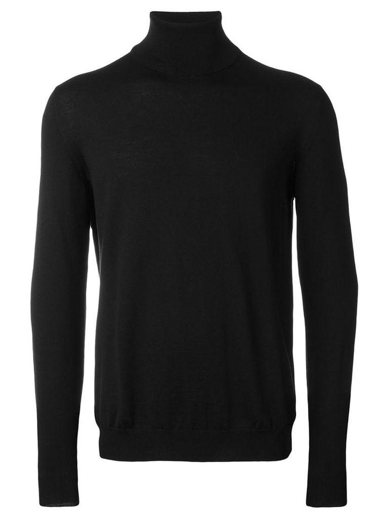 Zanone - turtle neck sweater - men - Virgin Wool - 48, Black