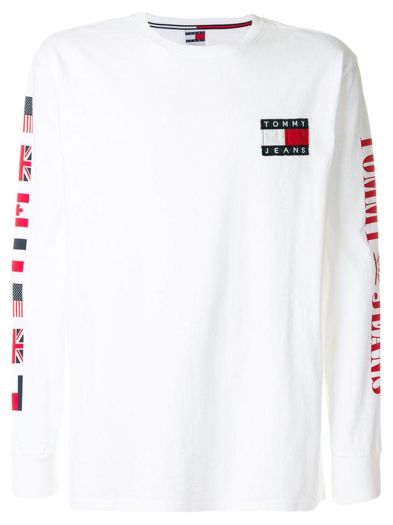 Tommy Jeans - flag print sweatshirt - men - Cotton - L, White