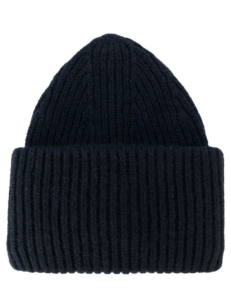Roberto Collina - ribbed knit beanie - men - Nylon/Camel Hair/Merino - One Size, Blue