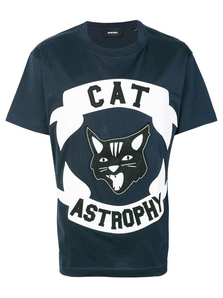 Diesel - Catastrophy T-shirt - men - Cotton/Polyester - XL, Blue