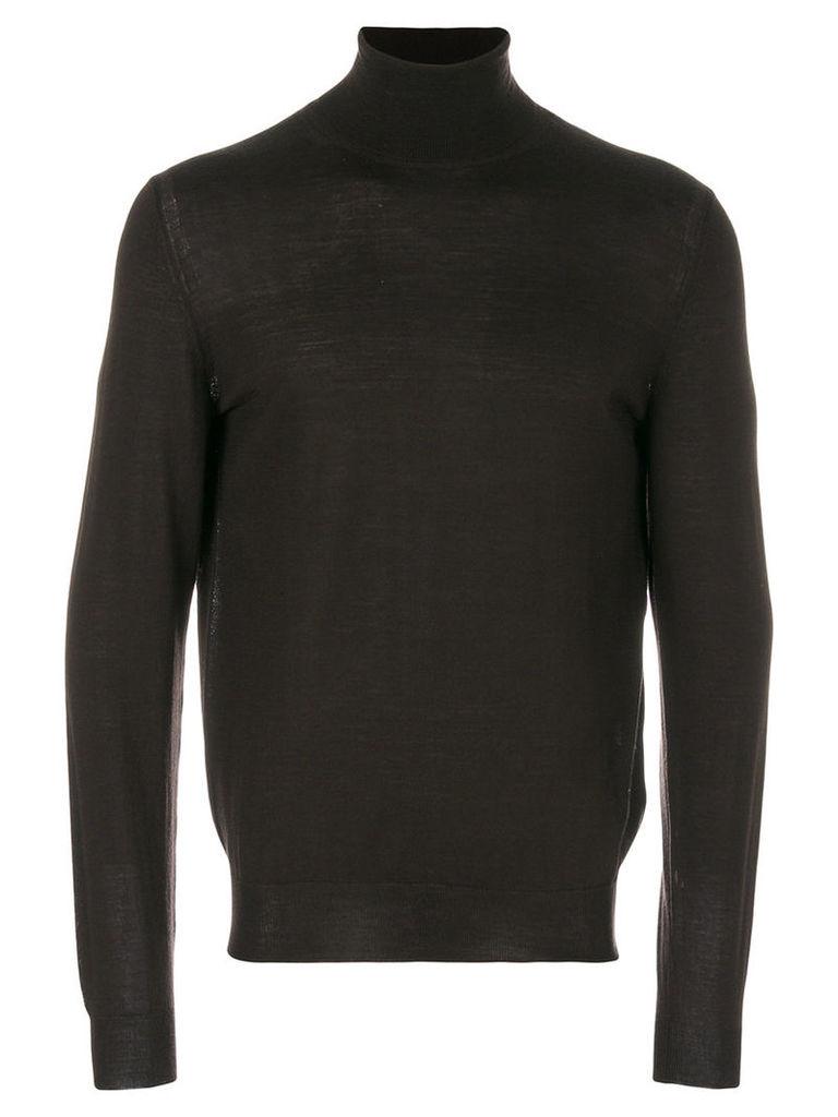 Paolo Pecora - roll-neck jumper - men - Wool - S, Brown