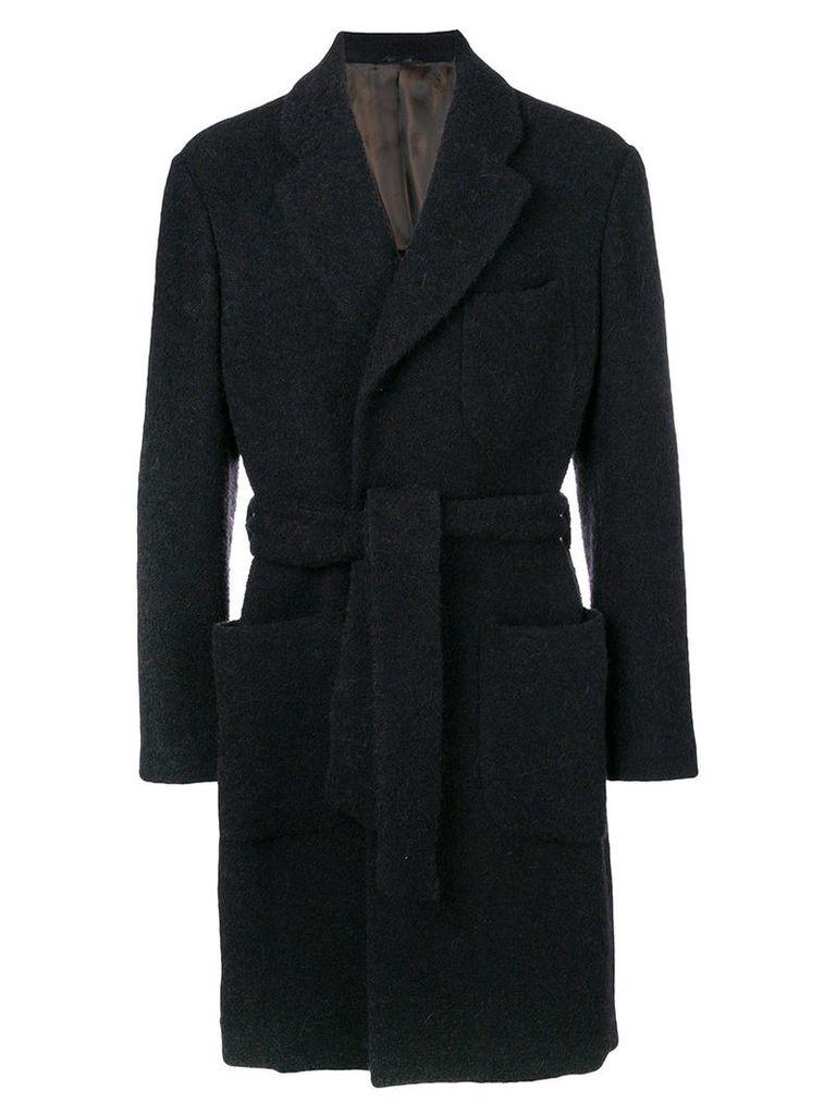 Giorgio Armani - tailored button-down coat - men - Cotton/Acrylic/Polyester/Alpaca - 48, Blue