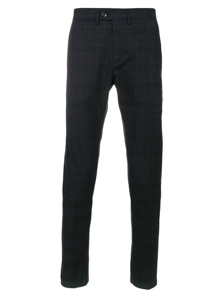Department 5 - checked trousers - men - Cotton/Spandex/Elastane/Virgin Wool - 33, Blue