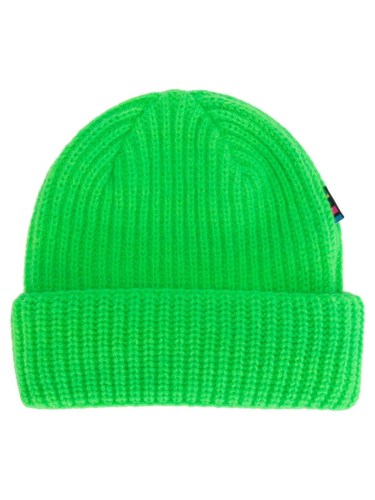 Ps By Paul Smith - beanie hat - men - Lambs Wool - One Size, Green