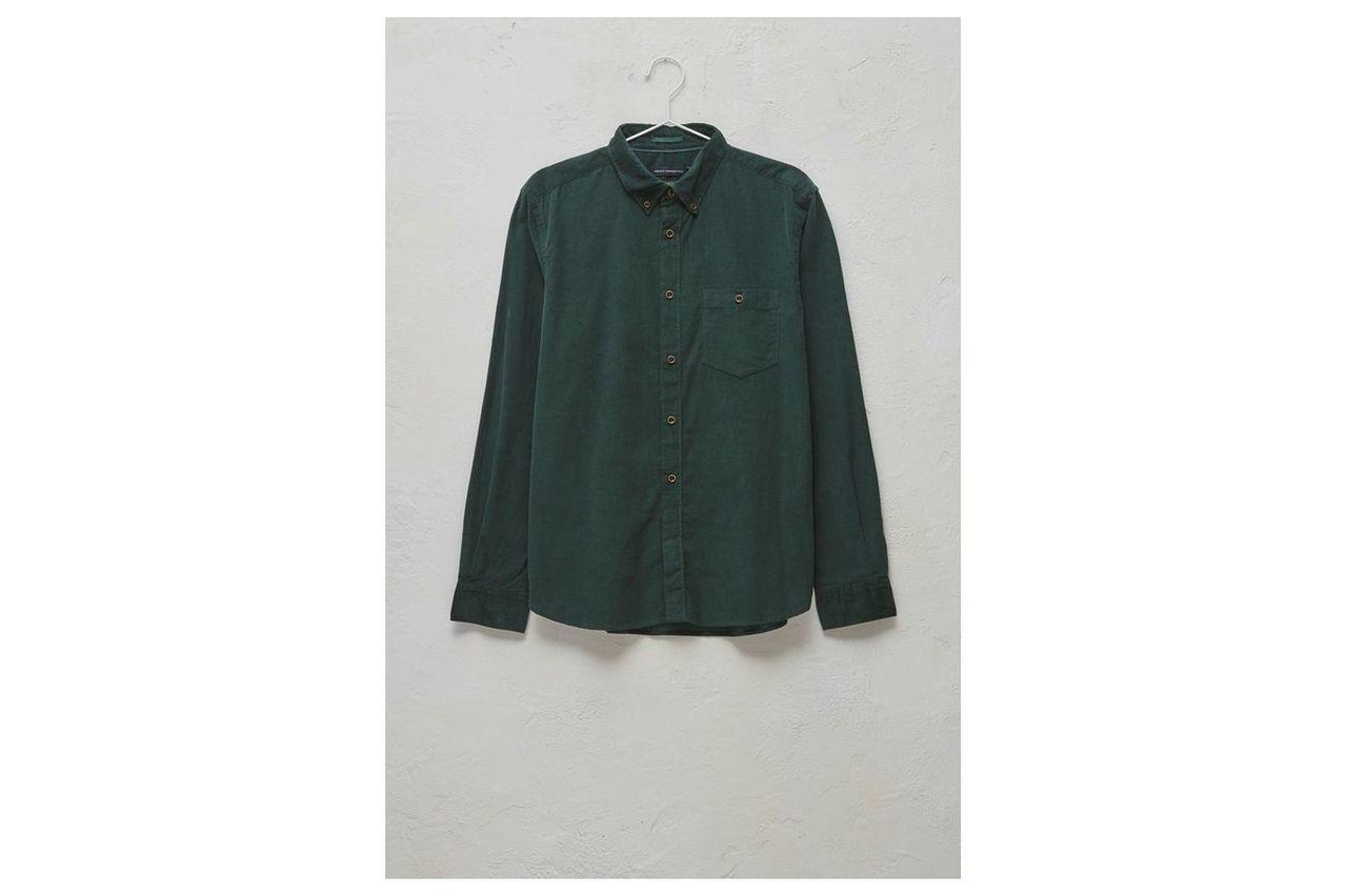 28 Wales Long Sleeved Corduroy Shirt - darkest spruce