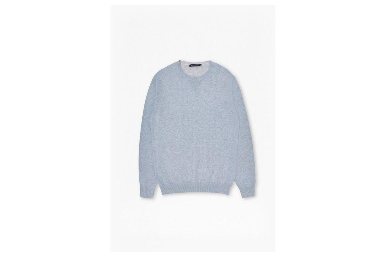Julep Printed Crew Neck Jumper - cashmere blue printed mel