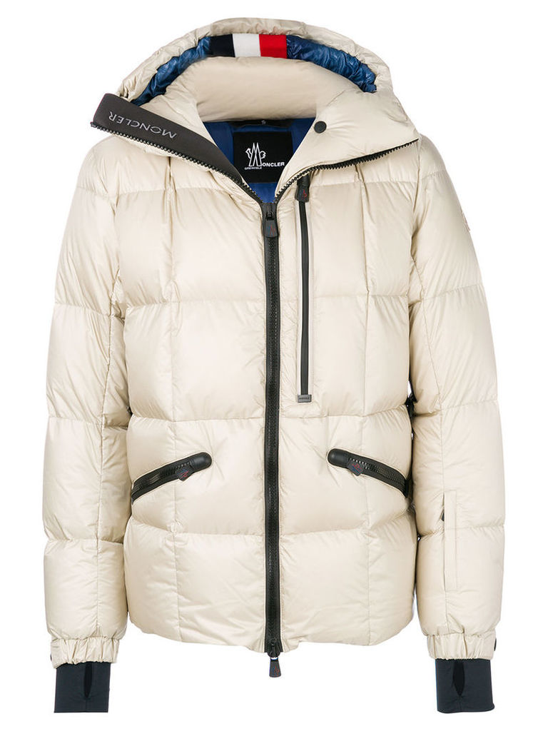 Moncler Grenoble - hooded puffer jacket - men - Feather Down/Polyamide - II, Nude/Neutrals
