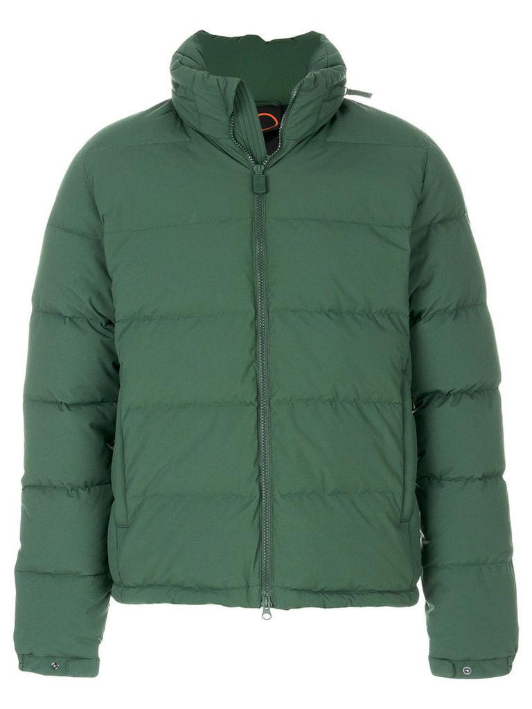 Aspesi - padded zip jacket - men - Feather Down/Nylon/Polyamide/Polyurethane - S, Green