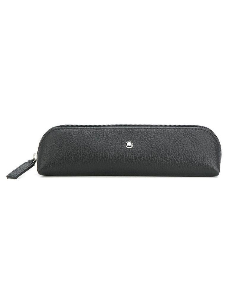 Montblanc - soft grain pen pouch - men - Calf Leather - One Size, Black