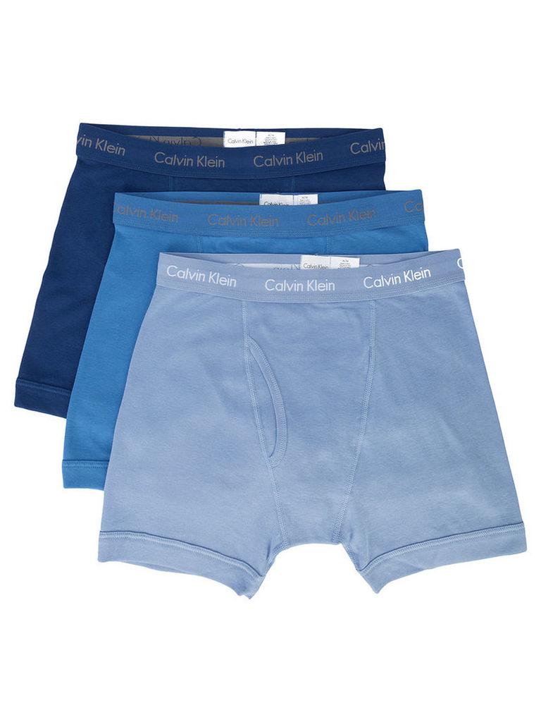 Calvin Klein - logoed boxer shorts - men - Cotton - M, Blue