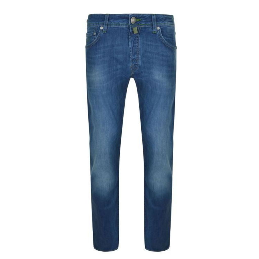 JACOB COHEN Grey Badge Slim Fit Jeans