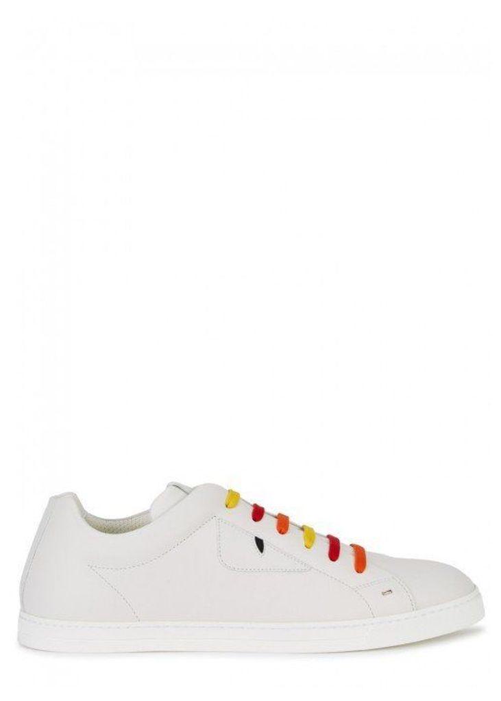 Fendi White Leather Trainers - Size 8