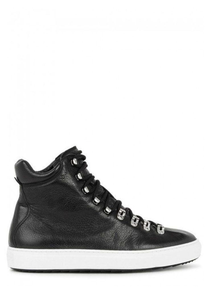 DSQUARED2 Whistler Black Leather Hi-top Trainers - Size 7