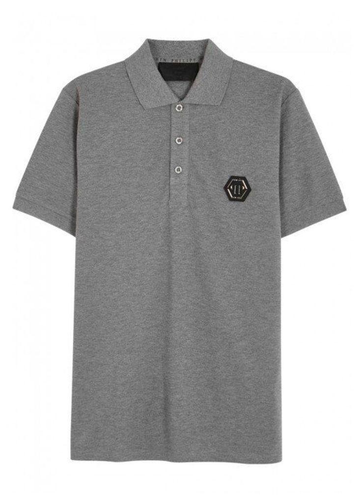Philipp Plein Ibaraki Piqué Cotton Polo Shirt - Size XL