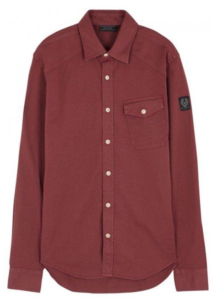 Belstaff Steadway Bordeaux Cotton Shirt - Size S