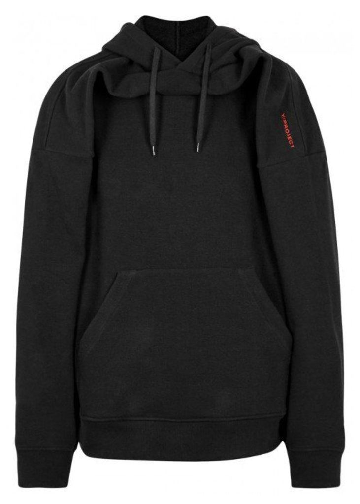Y/Project Black Hooded Cotton Sweatshirt - Size M