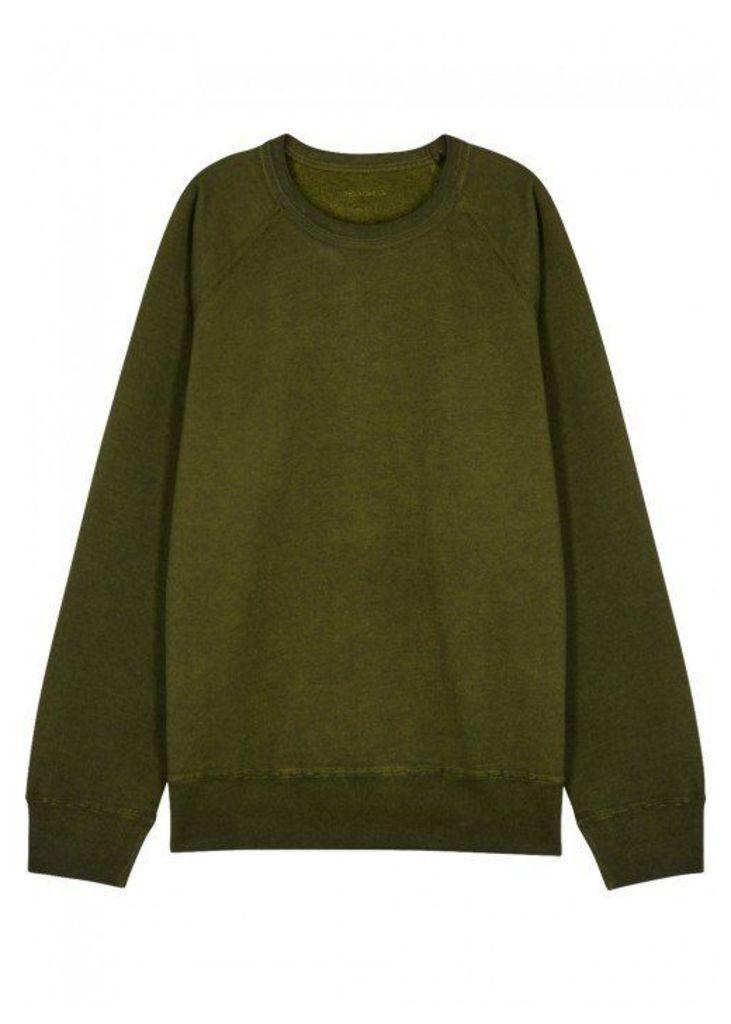 Our Legacy Green Reversible Jersey Sweatshirt - Size L