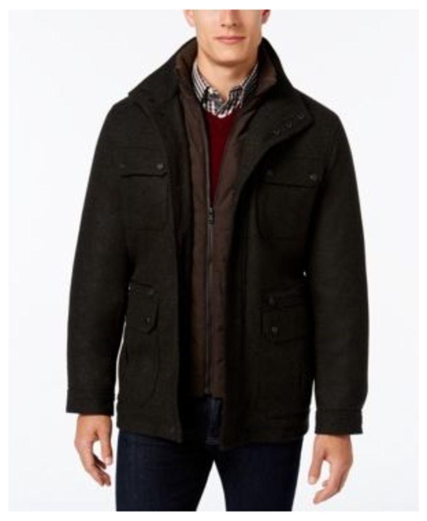Michael Michael Kors Big & Tall Wool-Blend Field Coat with Attached Bib