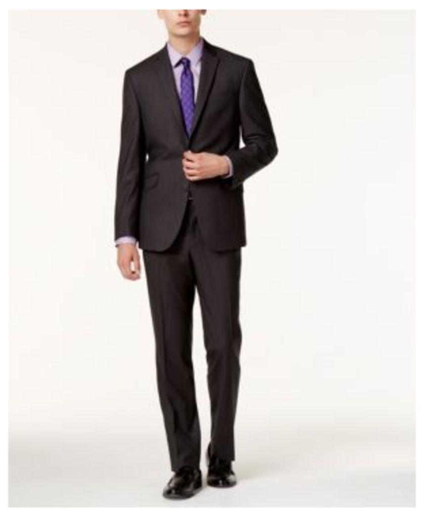 Kenneth Cole Reaction Men's Slim-Fit Gray Plaid Suit