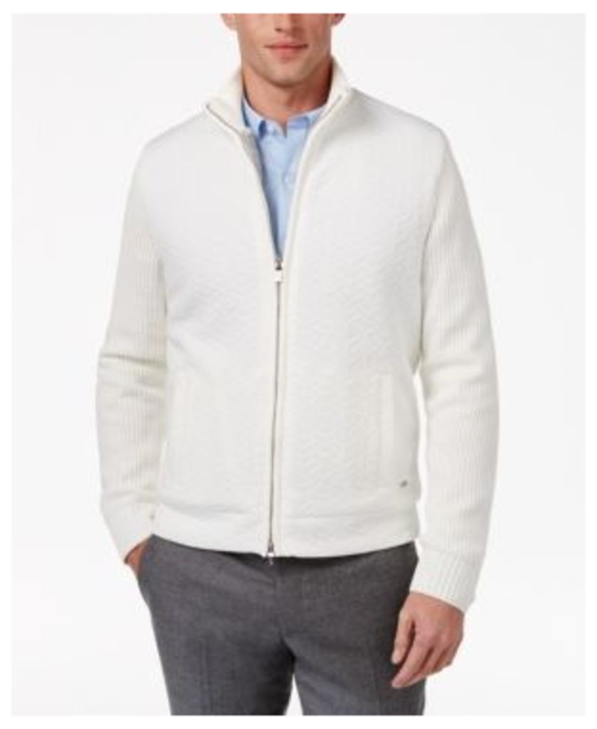 Alfani Collection Men's Zip-Front Cardigan with Faux Fur Lining, Created for Macy's