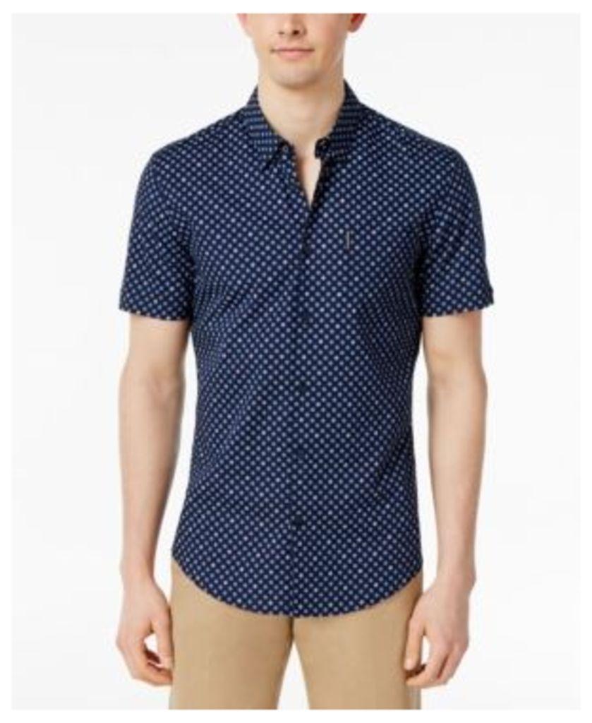 Ben Sherman Men's Classic Fit Foulard Short-Sleeve Shirt