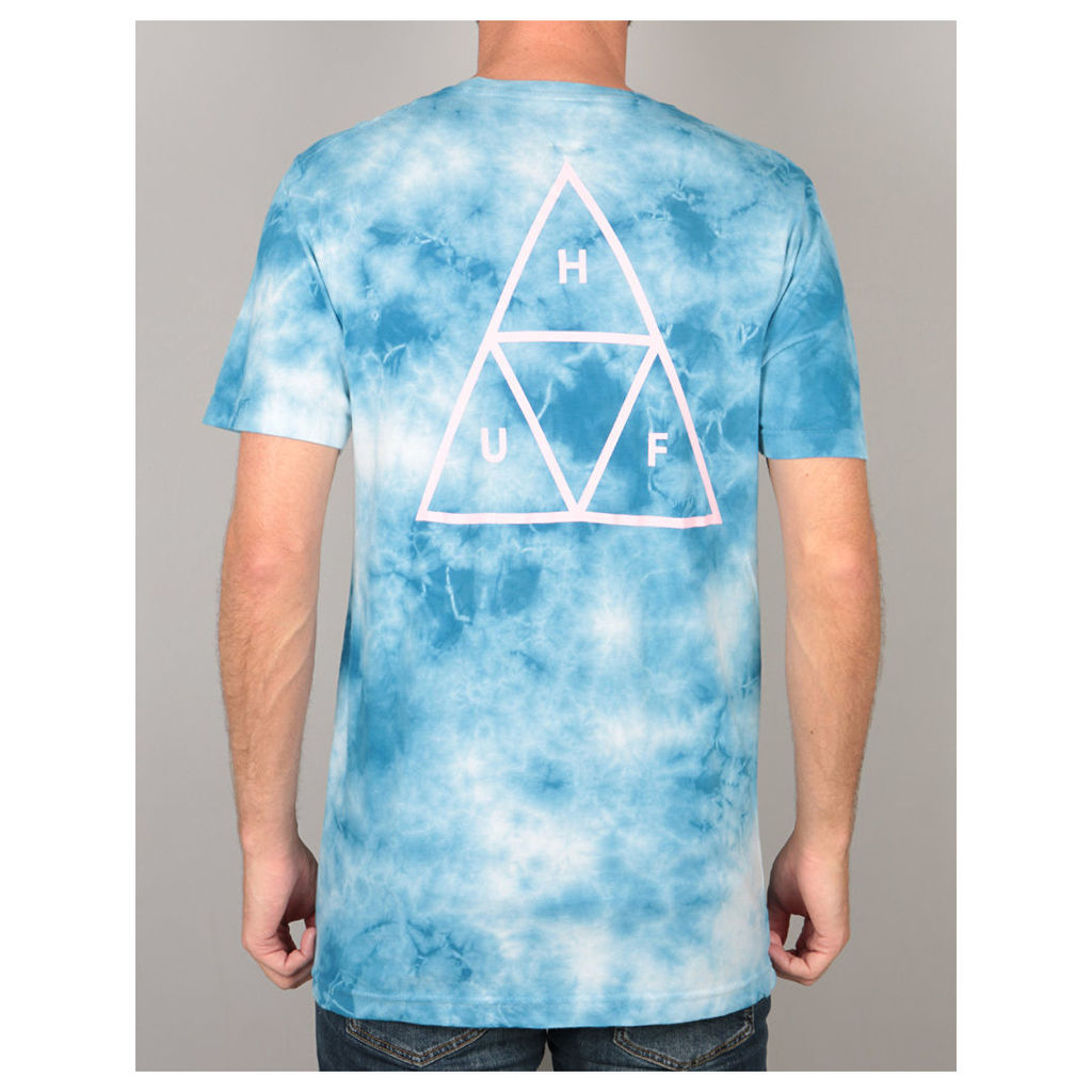 HUF Washed Triple Triangle T-Shirt - Blue (M)