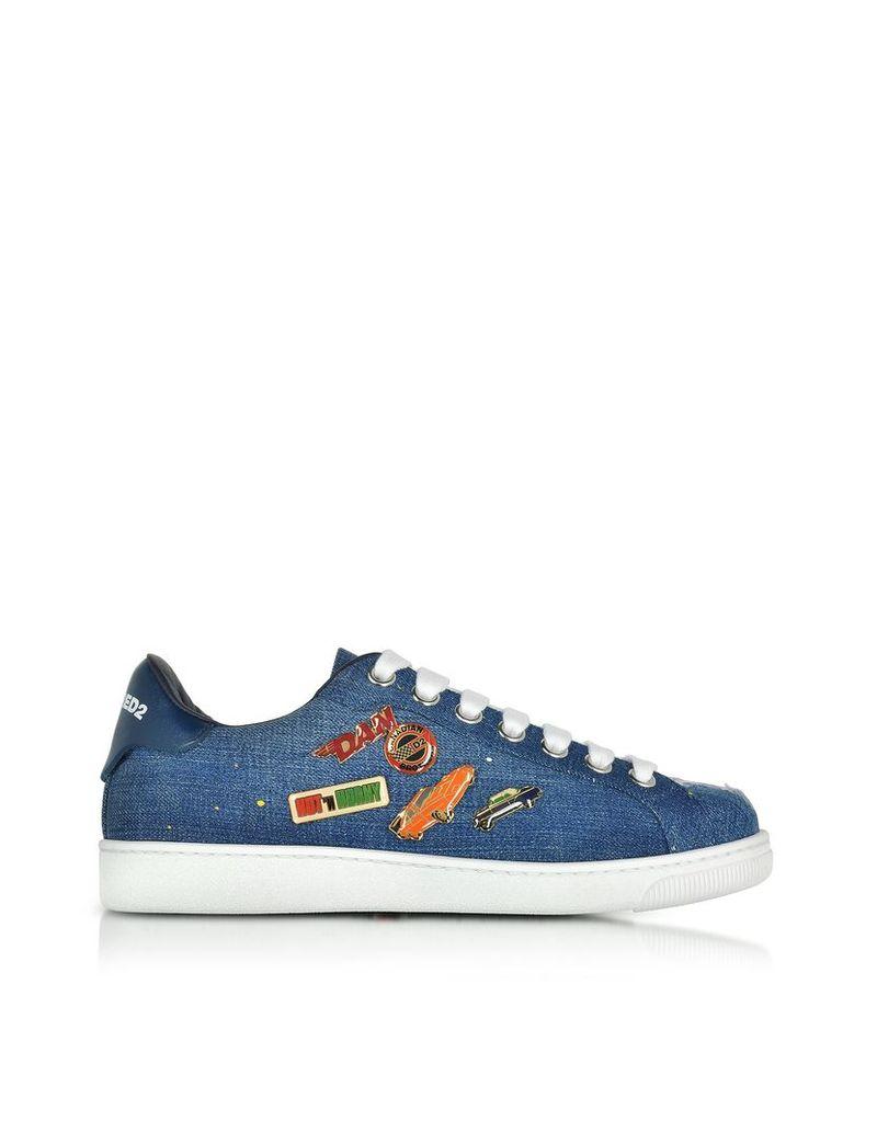 DSquared2 Shoes, Santa Monica Denim Blue w/Pins
