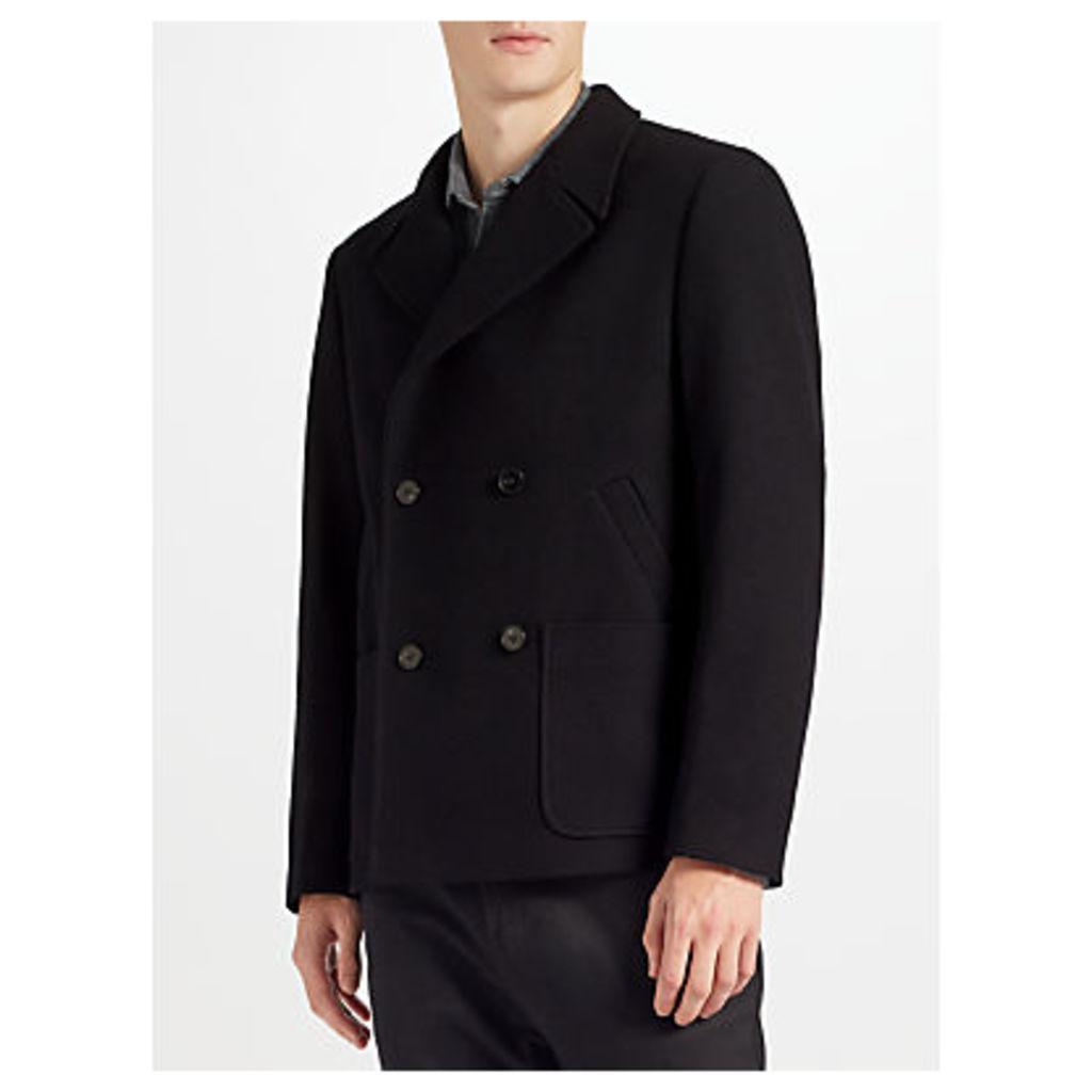 Kin by John Lewis Wool Blend Pea Coat, Navy