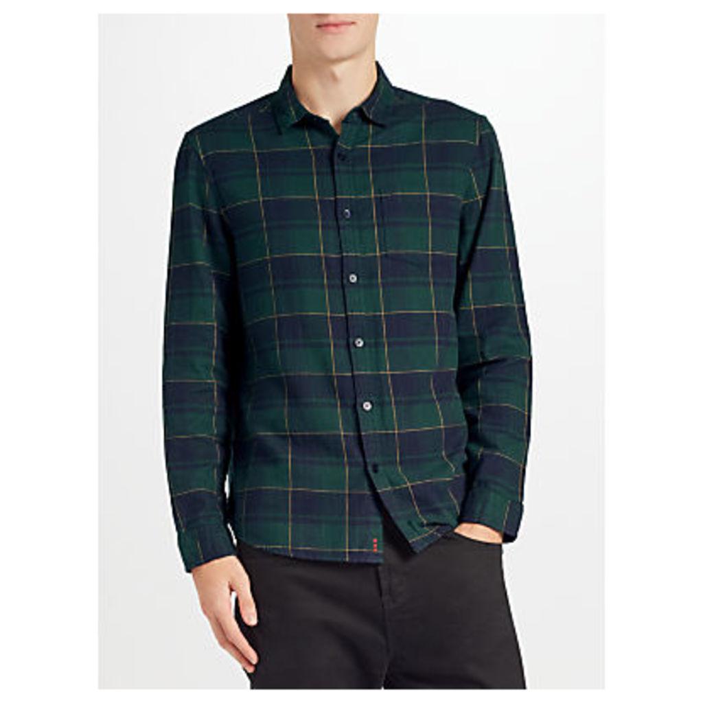Kin by John Lewis Window Pane Check Shirt, Green