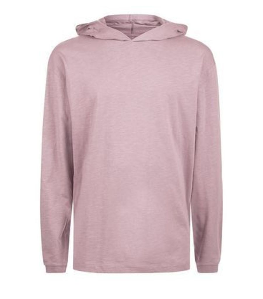 Lost Society Dark Pink Long Sleeve Hoodie New Look