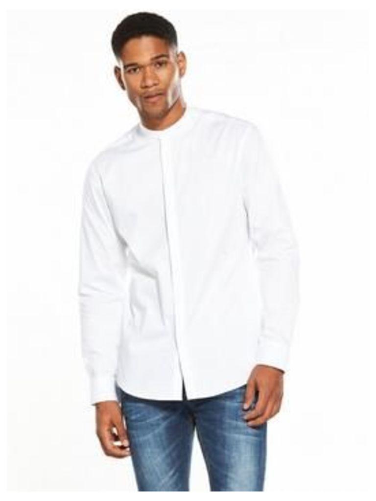 Selected Homme Long Sleeved Grandad Collar Shirt